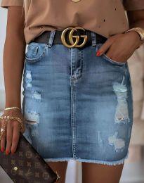 Дънкова пола в синьо - код 4310