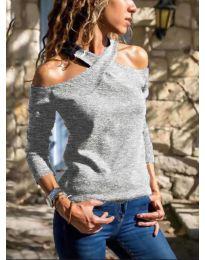 Дамска блуза в сиво - код 4616