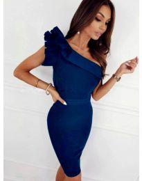 Елегантна рокля в синьо - код 2049