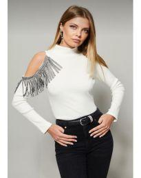 Дамска блуза в бяло - код 11464