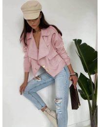 Дамско късо яке в розово - код 888