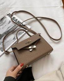 Дамска чанта в цвят капучино - код B398