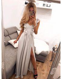 Елегантна рокля в бежово - код 673