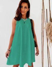 Свободна дамска рокля в цвят мента - код 9862
