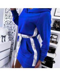 Спортна рокля в тъмно синьо - код 4483