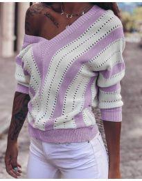 Дамска блуза в лилаво - код 786
