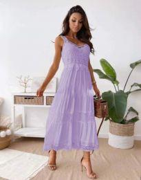 Атрактивна дамска рокля в светлолилаво - код 4672