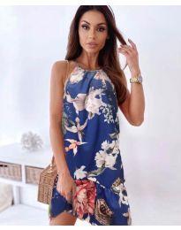 Атрактивна рокля в синьо - код 7027