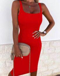 Елегантна рокля в червено - код 8899