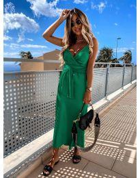 Елегантна рокля в зелен цвят - код 547
