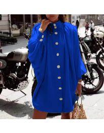 Свободна рокля в тъмносиньо - код 0899
