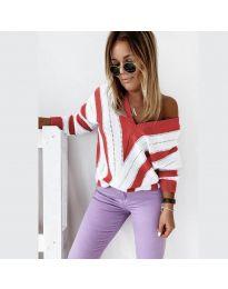 Дамска блуза в червено - код 0907