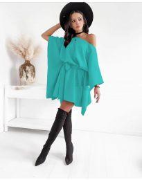 Елегантна дамска рокля в цвят мента - код 2315
