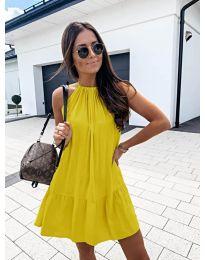 Феерична рокля в жълто - код 632