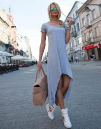 Свободна рокля в сиво - код 5507