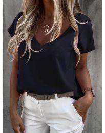 Дамска тениска в черно - код 0589
