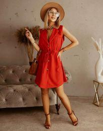 Елегантна рокля в червено - код 2702