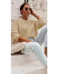 Дамска блуза в бежово - код 5540