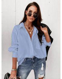Дамска риза в светло синьо - код 8304