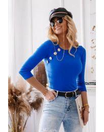 Атрактивна дамска блуза в синьо - код 3151
