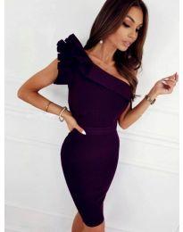 Елегантна рокля в тъмнолилаво - код 2049