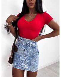 Изчистена дамска блуза в червено - код 756