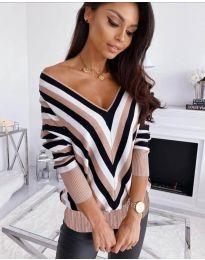 Дамска блуза с ефектен десен - код 6801