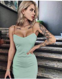 Елегантна рокля в мента - код 4749