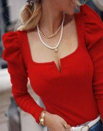 Изчистена дамска блуза в червено - код 12115