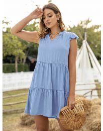 Свободна дамска рокля в светло синьо - код 696