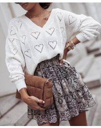 Дамска блуза в бяло - код 137