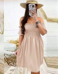 Дамска рокля в бежово - код 1409