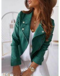 Дамско тънко яке в зелено - код 562