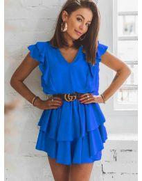 Феерична рокля в синьо - код 7173
