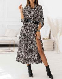 Дамска рокля с атрактивен десен - код 3853 - 3