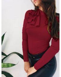 Атрактивна дамска блуза в бордо - код 7987