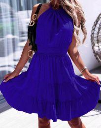 Дамска рокля в тъмносиньо - код 9949