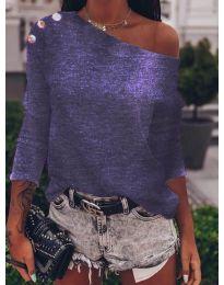 Дамска блуза в тъмно лилаво - код 4417