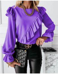 Дамска блуза в лилаво - код 6009