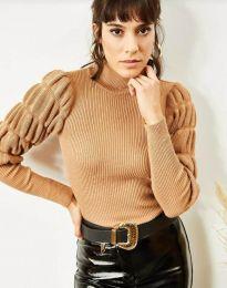 Дамска блуза в кафяво - код 0737