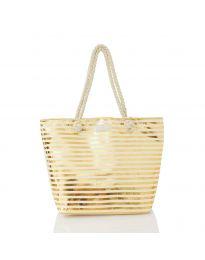 Плажна чанта в златисто - код 10926-4