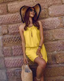 Ежедневна рокля в жълто - код 8399