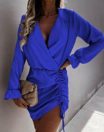 Елегантна рокля в синьо - код 4271