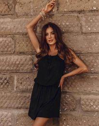 Ежедневна рокля в черно - код 8399