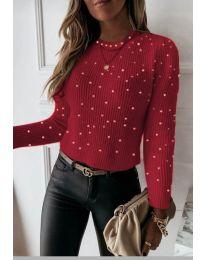 Дамска блуза в червено - код 419