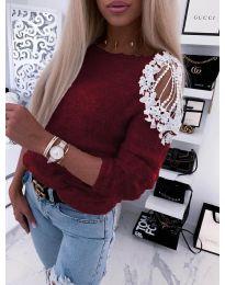Дамска пуловер в бордо - код 7373