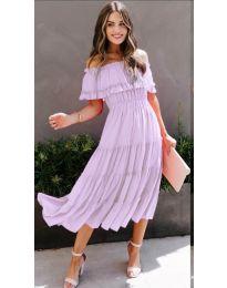 Феерична рокля в светло лилаво - код 699