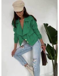 Дамско късо яке в зелено - код 888