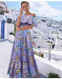 Феерична рокля в лилаво - код 8582