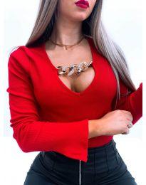 Дамска блуза в червено - код 4190